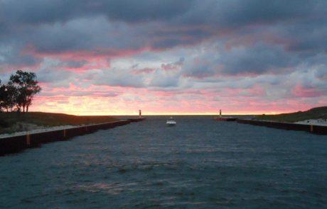Leaving Kalamazoo River to Lake Michigan from Aboard the Star of Saugatuck
