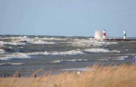 Waves on Lake Michigan from the Beach Saugatuck