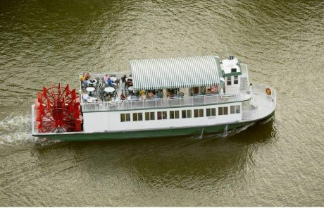 Star of Saugatuck Paddle Wheeler on the River