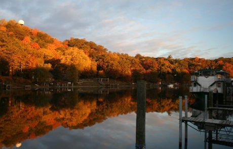 Saugatuck in the Fall with Star of Saugatuck Docked